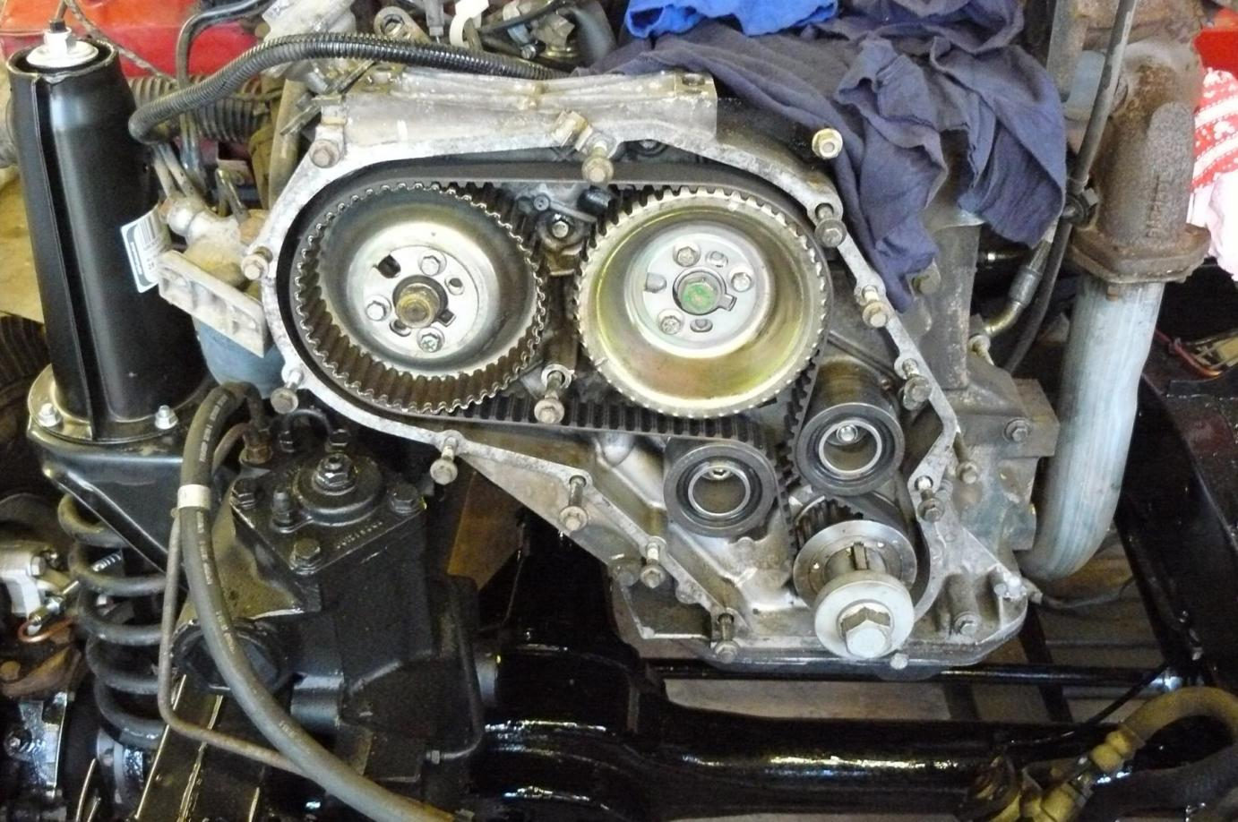 1994 Land Rover Defender 90 70th Anniversary Jake Wright Ltd Timing Belt Here Is A Picture Of 300 Tdi Engine And Pulleys