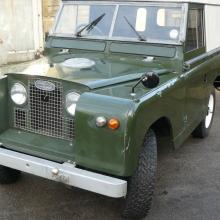 land rover series 2a for sale is in the yard at jake wright's independent land rover specialists
