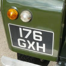 land rover series 2a front wing with number plate