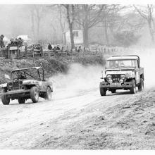 land rover 80 at stock car track