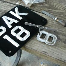 The original ACE land rover number plates were refurbished
