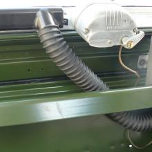New land rover heater vent flexible tubes were fitted