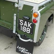 The original glass land rover series 2 rear lamps were refitted