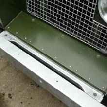 The land rover series 2 front valance was a very early unusual example