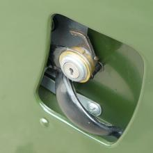The land rover door lock was unusual as it was an early one
