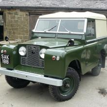 Here after a lot of work is the finished land rover series 2 88