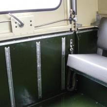 land rover rear tub and tailgate showing the handle and the newly galvanised pieces