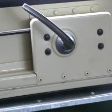 The land rover rear top door was stripped down and rebuilt