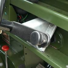 The land rover series 2 horn switch was mounted on the side of the steering coumn