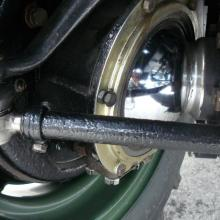 land rover had new  swivel housings fitted to the front axle