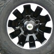 A land rover special alloy wheel rm with BFG tyre fitted