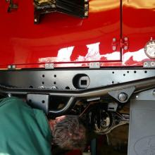 Fitting the rear step bumper to jake wright 70th anniversary land rover