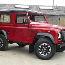 The defender 70th anniversary land rover has now come out of the workshop