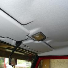 A new roof lining has now been fitted to the defender 90 land rover