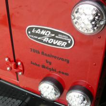 The rear panel on the land rover defender 90
