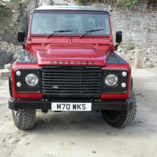 The land rover defender 300 tdi 70th anniversary look-alike is now ready at jake wright's