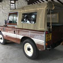 Classic series land rover in our showroom at Jake Wright