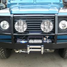 Land Rover Defender winch bumper with Warne winch