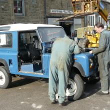 More work is being carried out on the V8 land rover chassis swap