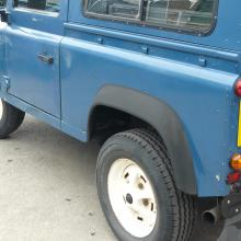 The other side of the land rover V8 is very straight with Stratos blue paintwork