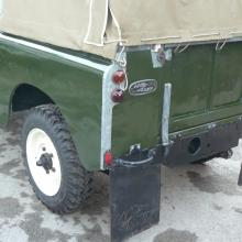 Land rover series 2 is outside the workshop at Jake Wright's