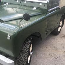 the mirrors were attached to the wings on a series 2 land rover
