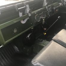 The dash board in a land rover series 2 was metal with central instruments