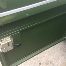 The doors on land rover series 2 were aluminium with steel frames