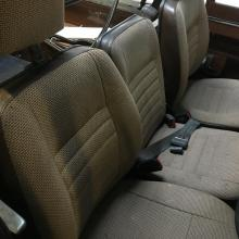 Defender style county cloth seats are fitted to this series 3 land rover