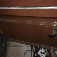 The land rover series 3 doors are in great condition