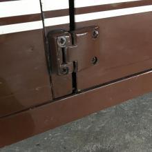 The bottom door hinge is attached to a great door pillar