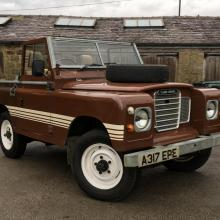 LAND ROVER SERIES  3 without roof outside our workshop
