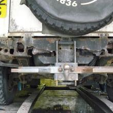 land rover defender rear chassis cross member is the first oplace that corrosion takes hold as it gets all the water and dirt thrown up from all the wheels, sometimes the cross member can be replaced but sometimes it is too far gone as can be seen in this picture