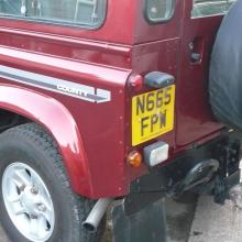 Here is another view of the land rover county showing the rear left hand side