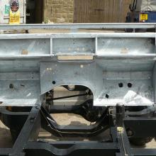 land rover 107 bulkhead after being galvanize'd