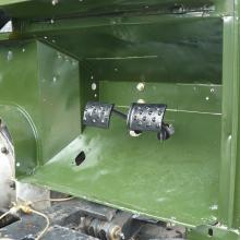 The land rover 107 bulkhead has now been fitted and the pedals are now in place in the footwell