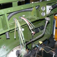 The 107 land rover wiring loom was replaced using a brand new loom