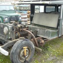 land rover series 1 107 with engine still in position and bulkhead removed