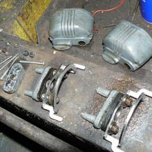 The land rover series 1 wiper motor's were seized so they were stripped down and overhauled