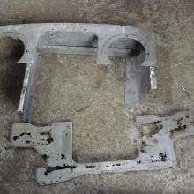 The land rover 107 front panel was very badly corroded so a former was made in order to make a new section