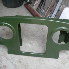 land rover series one panel was then galvanise'd and painted bronze green