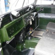 The land rover 107 interior now starting to look like it should