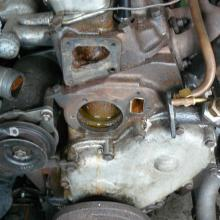 The land rover 2 litre engine in the 107 had a leaking and corroded water pump so that was stripped and rebuilt