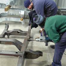 land rover series 1 107 new chassis having the spring bush tubes reamed out to size at the manufacturer's