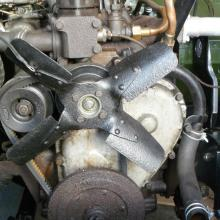 The land rover 2 litre engine water pump now back in position