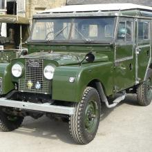 land rover 107 station wagon NVH432 finally finished in our yard at Jake wright land rover's