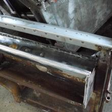 bulkhead repair to the 107 land rover station wagon