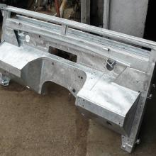 the land rover series 1 107  bulkhead was galvanize'd to prevent further corrosion