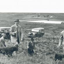 The Land rover 107 SW on the grouse shoot at Widdup near Hebden Bridge ,photo from the Savile archives