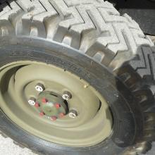 the correct pattern tyres are fitted on this land rover lightweight and they are similar to the original good year extra grip tyre s originally fitted